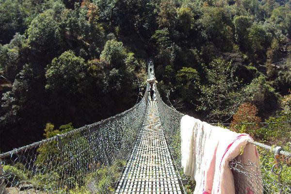 River bridge in Solukhumbu District
