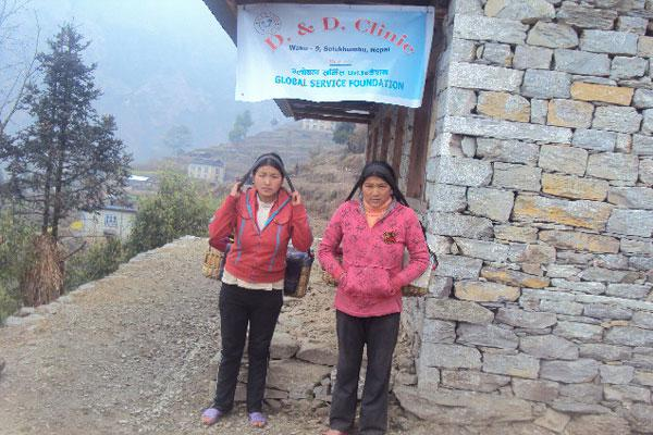 Rural local people came for treatment of children at GSF owned clinic