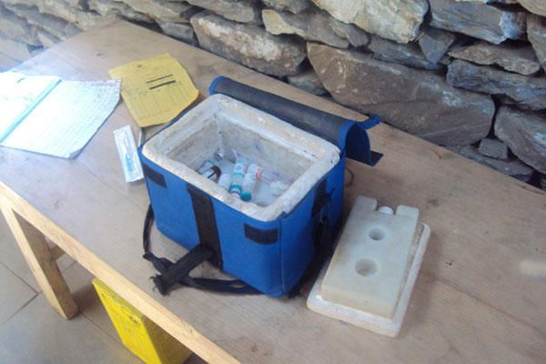 Vaccination box at GSF owned clinic
