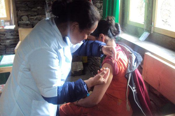 Vaccination for adult at GSF owned clinic