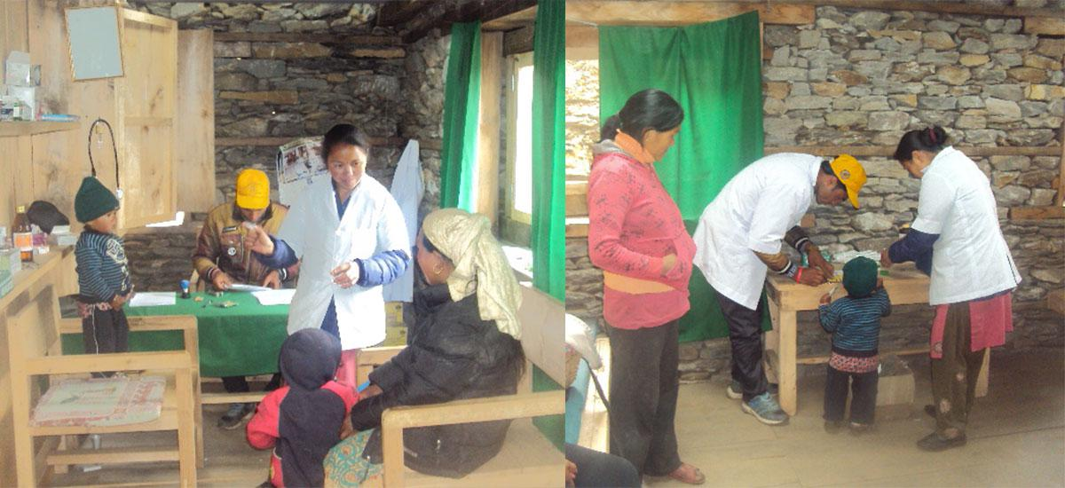 GSF clinic officer servicing rural local people